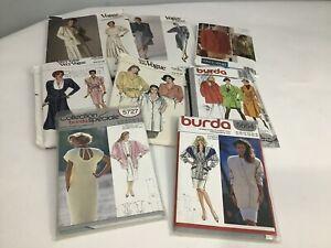 VOGUE and  BURDA Sewing patterns X 6 Vintage  D4
