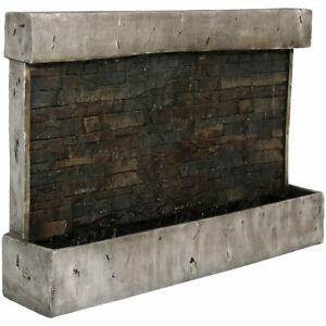 Sunnydaze Ancient Outdoor Wall Waterfall Fountain - 24-Inch