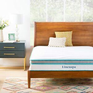 King Mattress Memory Foam 8 10 12 Inch Gel Bed Platform Frame Medium Firm NEW