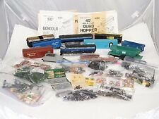 LOT OF HO TRAINS, PEOPLE, NAILS, TREES, SIGNS, WHEELS & OTHER ITEMS / PARTS ONLY