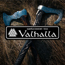 "Welcome to Valhalla 6""x24"" Aluminum Sign - Viking, Norse, Odin, Thor, Loki"