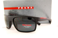 Brand New Prada Sport  Sunglasses PS 02Q 02QS DG0/5Z1 BLACK/GRAY POLARIZED Men