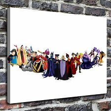 Disney Villain Line Paintings HD Print on Canvas Home Decor Wall Art Pictures