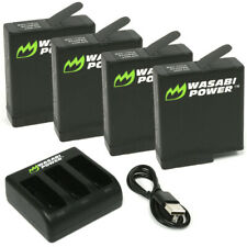 Wasabi Power Battery (4-Pack) and Triple Charger for GoPro HERO8 Black, HERO7