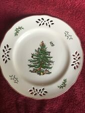 Spode Christmas Tree 9 inch Pierced Accent Plate