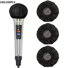 More details for 200pcs disposable non-woven microphone headset windscreen mic cover hat for ktv