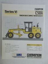 Champion C50A Series Vi Motor Grader Color Literature