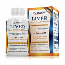Dr. Tobias Liver Support - 21 Day Cleanse - Supplement With Art... Free Shipping