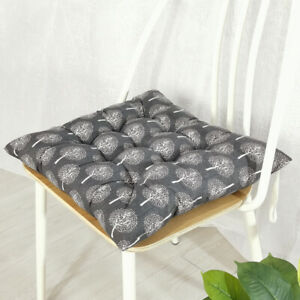 Thicken Chair Seat Pad Tie On Square Cushions Dining Kitchen Floor Patio Pads