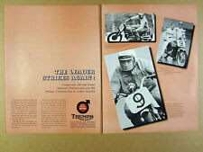 1967 Triumph Motorcycles Win Loudon-Laconia NH Road Race vintage print Ad