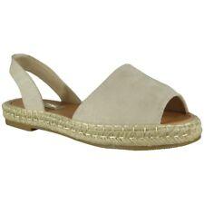 Alpargatas Para Mujer Damas Elástico Slingback Zapatos Peeptoe Sandalias De Verano Tamaño
