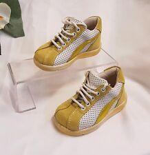 Ragazzi Bambino scarpe Sneaker VERA PELLE Made Italia Verde Gr 21