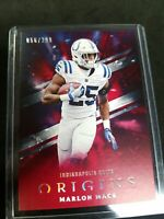 2018 Panini Origins Red #57 Marlon Mack /299 INDIANAPOLIS COLTS