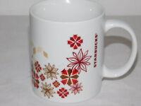 Starbucks 2013 Holiday Red & Gold Snowflakes Christmas Coffee Cup Mug Large 12oz