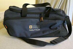 "Blue Nautica Polyester Shoe Gym Beach Garden Tool Duffle Bag 20"" L"