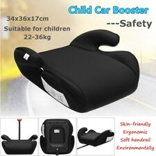Black Safe Sturdy Baby Kid Children Car Booster Seat Pad For 6-12 Year 22-36kg