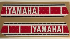 Yamaha 1978 YZ 125 Gas Tank Decals, Graphics Red