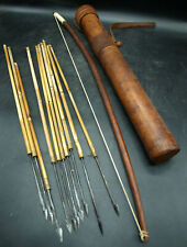 Ivory Coast Old African Bow 10 Arrows Quiver Fleches Carquois Arc D'Afrique (H1)