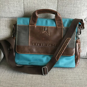 Police Leather And Canvass Messenger Bag