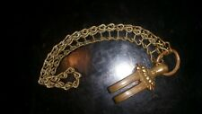 WwII Japanese Army ● EXTREMELY RARE ASHI AND CHAIN ● antique sword samurai part