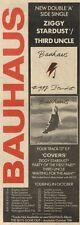 2/10/82Pgn40 Advert: Bahaus Single ziggy Stardust/third Uncle 15x5