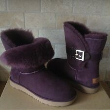 UGG Jaylyn Port Suede Fur Cuff Buckle Ankle / Short Boots Size US 10 Womens