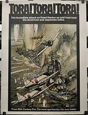 TORA! TORA! TORA! 1970 ORIGINAL 30X40 MOVIE POSTER MARTIN BALSAM SO YAMAMURA
