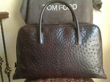 TOM FORD $25000 MENS BROWN/BURGUNDY OSTRICH DOCTOR TRAVEL BAG NWT MADE IN ITALY