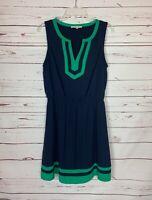 41 Hawthorn Stitch Fix Women's M Medium Navy Green Sleeveless Cute Summer Dress