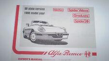 Alfa Romeo Spider Owner's Manual - 1990 -  PDF Version