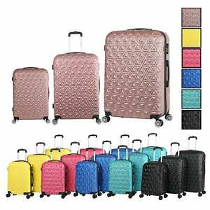 Go2Travel 3tlg. Hartschalen Kofferset Reisekoffer Reisetasche Trolley Handgepäck