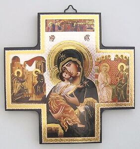 Icon Cross Wall Hanging Our Lady of Perpetual Help