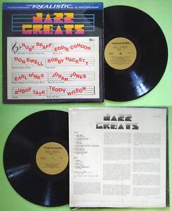 LP 33 giri Jazz Greats Vol.1 Realistic 50-6010 Buddy Tate Hines Usa 1977 no cd