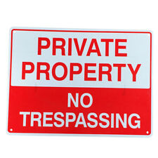 3x Warning Sign No Trespassing 225x300mm Metal Private Property Home 16003051