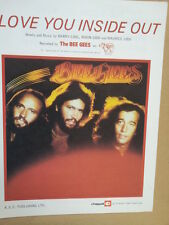 song sheet LOVE YOU INSIDE OUT The Bee Gees 1979