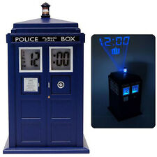 *NEW IN BOX* Dr Doctor Who Blue TARDIS Projection Alarm Digital Clock