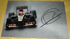 ROMAIN GROSJEAN LOTUS FORMULA ONE F1 HAND SIGNED AUTOGRAPH 12X8 PHOTO