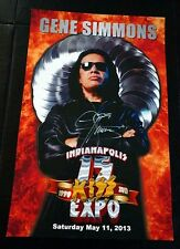 Gene Simmons Signed FIRE 2013 Indianapolis Expo POSTER Autograph