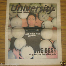 ☆ Very Rare 1997 MISTY MAY Long Beach State UNIVERSITY Magazine Cover Article