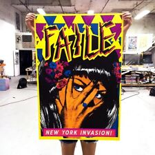 FAILE Print New York Invasion 2015 Signed Numbered Pose Riot Obey Fire | # 200