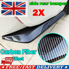 2pcs Carbon Fiber Rear Bumper Lip Diffuser Splitter Canard Protector Accessories