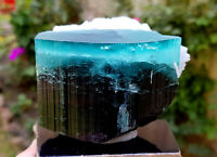 453 Gram Paraiba Blue Cap Tourmaline Crystal with Lepidolite & Cleavlandite