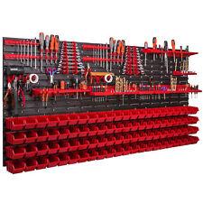 88 Stapelboxen Wandregal Werkzeugwand 173 x 78 cm Werkzeughalter Lagersystem XXL
