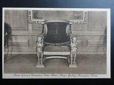 Kensinton Palace, Queen Victoria's Coronation Chair - Old Postcard