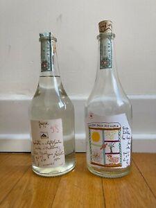 Grappa 58 handgemaltes Etikett Levi von 2001 ungeöffnet / 1Flasche Levi leer