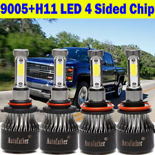 H11+9005 Led Headlight Bulbs Kit Beam for Chevy Silverado 1500 2500 3500Hd 1500W