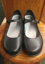 Women's Dansko, Black Leather, Mary Jane style Shoes, Size 38, or 7.5 to 8