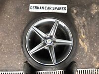 "15 MERCEDES C220 AMG LINE W205 18"" REAR ALLOY WHEEL & TYRE BREAKING A2054011200"