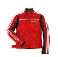 DUCATI Dainese 80s Lederjacke Jacke Leather Jacket rot NEU !!