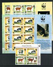 U092  Philippines  1997  WWF  Warty Pig, Deer  block & sheets   MNH